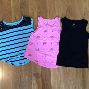 Lot of Justice tank tops—size 7